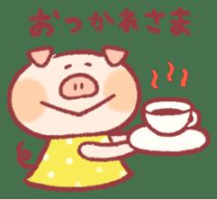 Cute pig sticker #862671