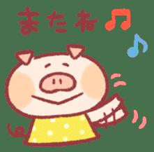 Cute pig sticker #862674