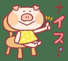 Cute pig sticker #862675