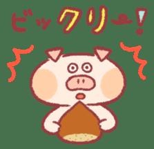 Cute pig sticker #862676
