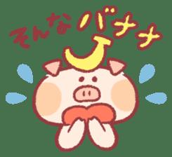 Cute pig sticker #862677