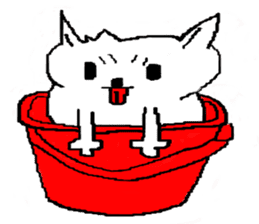 bucket dog sticker #863840