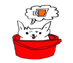 bucket dog sticker #863844