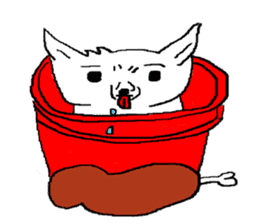 bucket dog sticker #863847
