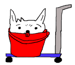 bucket dog sticker #863853