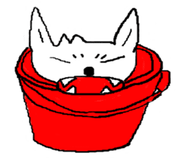 bucket dog sticker #863856