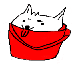 bucket dog sticker #863863