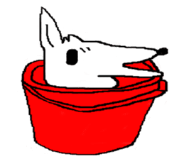 bucket dog sticker #863866
