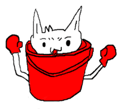 bucket dog sticker #863867