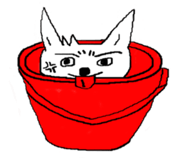 bucket dog sticker #863873