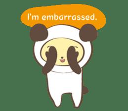 The boy who put on panda costume. sticker #865400