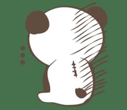 The boy who put on panda costume. sticker #865403