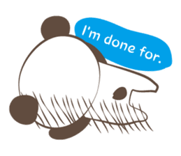 The boy who put on panda costume. sticker #865409