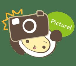 The boy who put on panda costume. sticker #865411