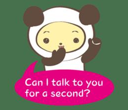 The boy who put on panda costume. sticker #865413