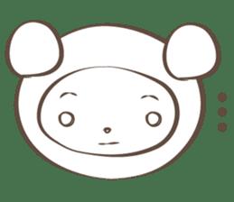 The boy who put on panda costume. sticker #865425