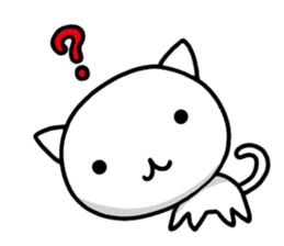 white kitten sticker #868769