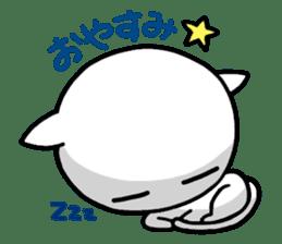 white kitten sticker #868795