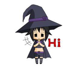 Little Fun witch sticker #869768