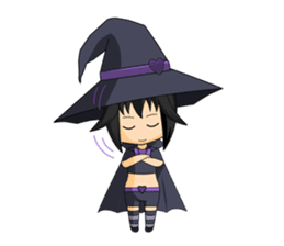 Little Fun witch sticker #869775