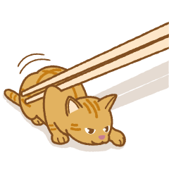"Chopstick rest cat ""Yasubei"""