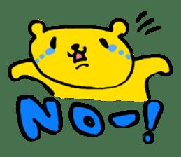 yellow bear sticker #870320