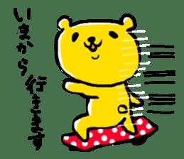 yellow bear sticker #870321