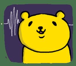 yellow bear sticker #870326
