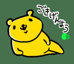 yellow bear sticker #870327