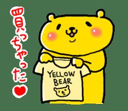 yellow bear sticker #870329
