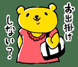 yellow bear sticker #870331