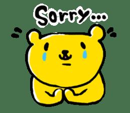 yellow bear sticker #870332