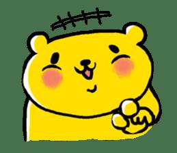 yellow bear sticker #870339