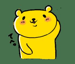 yellow bear sticker #870340