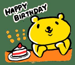 yellow bear sticker #870341