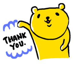 yellow bear sticker #870342