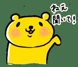yellow bear sticker #870343