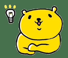 yellow bear sticker #870347