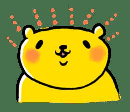 yellow bear sticker #870354