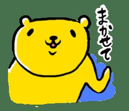 yellow bear sticker #870358