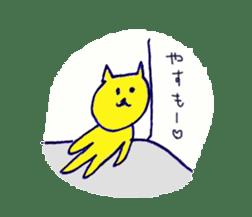 yellow happy cat 3 sticker #872128