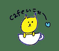 yellow happy cat 3 sticker #872132
