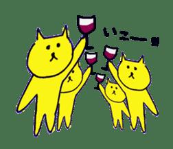 yellow happy cat 3 sticker #872137