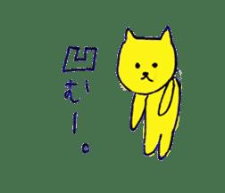 yellow happy cat 3 sticker #872139