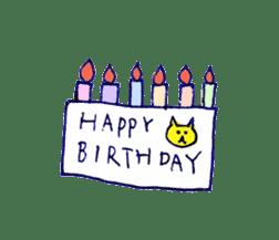 yellow happy cat 3 sticker #872140