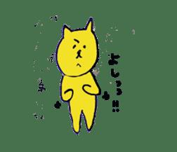 yellow happy cat 3 sticker #872145