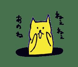 yellow happy cat 3 sticker #872146