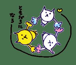 yellow happy cat 3 sticker #872149