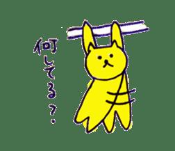 yellow happy cat 3 sticker #872151