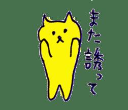 yellow happy cat 3 sticker #872153